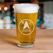 Star Trek: Lower Decks Cerritos Bar Logo Laser Engraved Pint Glass | Official CBS Entertainment Store