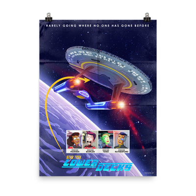 Star Trek: Lower Decks Cerritos Key Art Premium Satin Poster