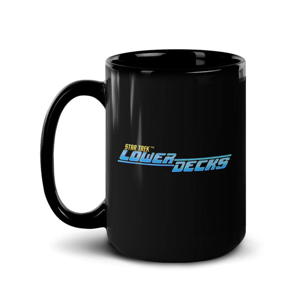 Star Trek: Lower Decks Logo Black Mug | Official CBS Entertainment Store