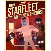 Star Trek: Lower Decks New Friends Recruiting Premium Satin Poster | Official CBS Entertainment Store