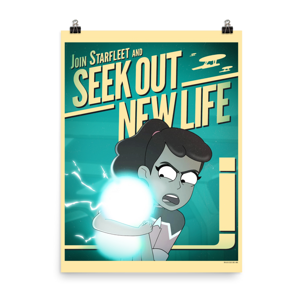 Star Trek: Lower Decks New Life Recruiting Premium Satin Poster | Official CBS Entertainment Store