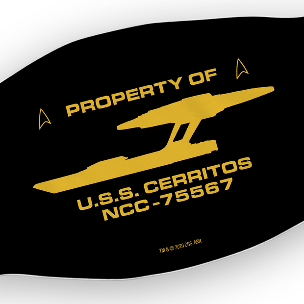 Star Trek: Lower Decks Property of U.S.S. Cerritos Washable Face Mask | Official CBS Entertainment Store