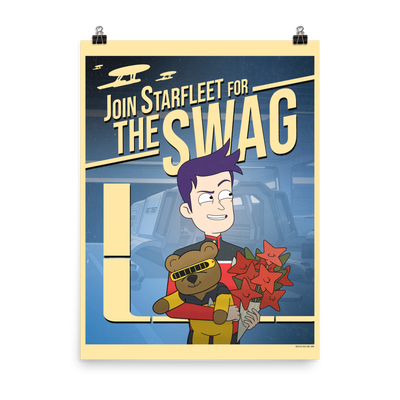 Star Trek: Lower Decks Swag Recruiting Premium Satin Poster | Official CBS Entertainment Store