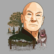 Star Trek: Picard Vineyard Portrait Adult Short Sleeve T-Shirt