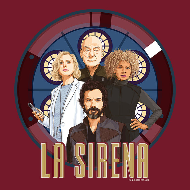 Star Trek: Picard La Sirena Crew Portrait Adult Short Sleeve T-Shirt