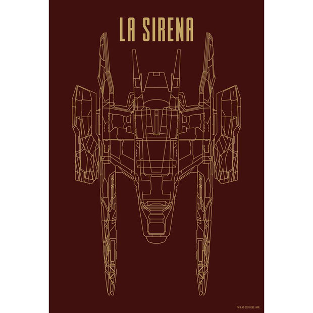 Star Trek: Picard La Sirena Schematic Acrylic Tray | Official CBS Entertainment Store