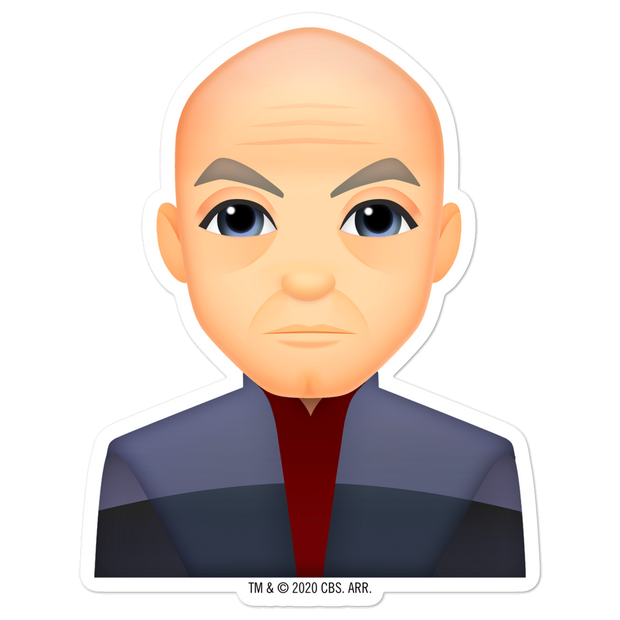 Star Trek: Picard Picard Emoji Die Cut Sticker | Official CBS Entertainment Store