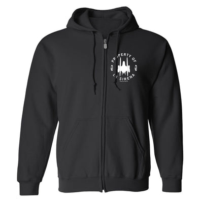 Star Trek: Picard Property of La Sirena Fleece Zip-Up Hooded Sweatshirt