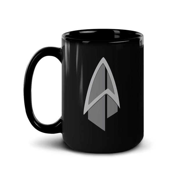 Star Trek: Picard Starfleet Badge Black Mug | Official CBS Entertainment Store