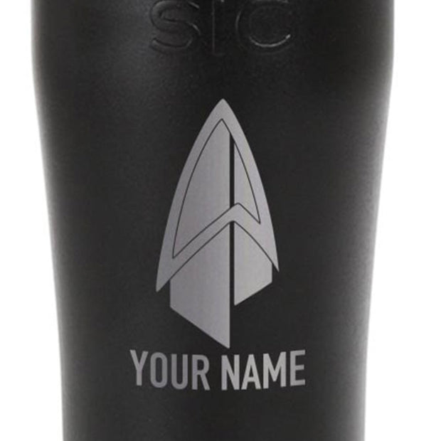 Star Trek: Picard Starfleet Badge Personalized Laser Engraved SIC Tumbler