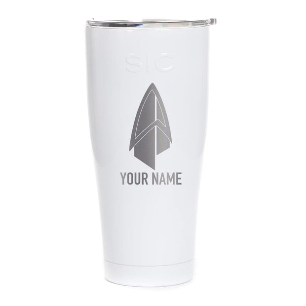 Star Trek: Picard Starfleet Badge Personalized Laser Engraved SIC Tumbler | Official CBS Entertainment Store