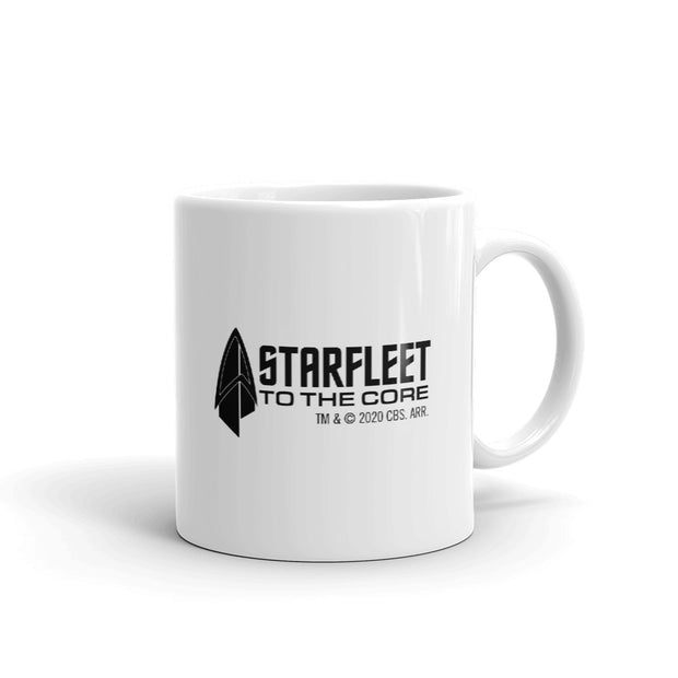 Star Trek: Picard Starfleet to the Core White Mug | Official CBS Entertainment Store