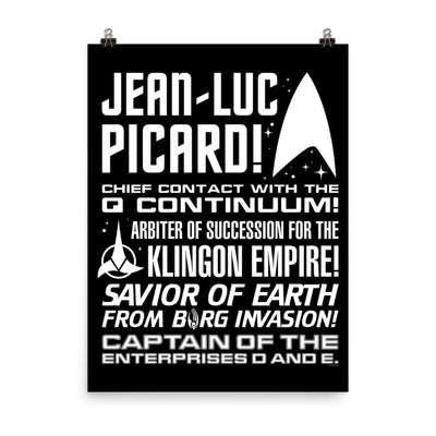 Star Trek: Picard Tribute Satin Poster