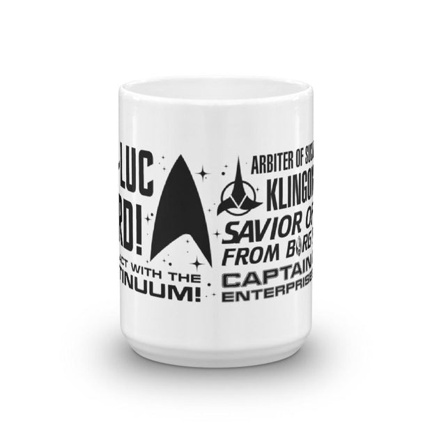 Star Trek: Picard Tribute White Mug | Official CBS Entertainment Store