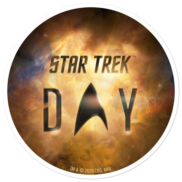 Star Trek Day Logo Die Cut Sticker | Official CBS Entertainment Store