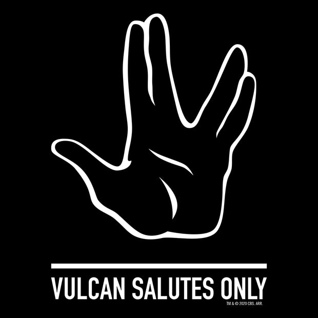 Star Trek Vulcan Salutes Only Sign Adult Short Sleeve T-Shirt