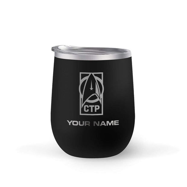 Star Trek: Discovery CTP Personalized 12 oz Stainless Steel Wine Tumbler | Official CBS Entertainment Store