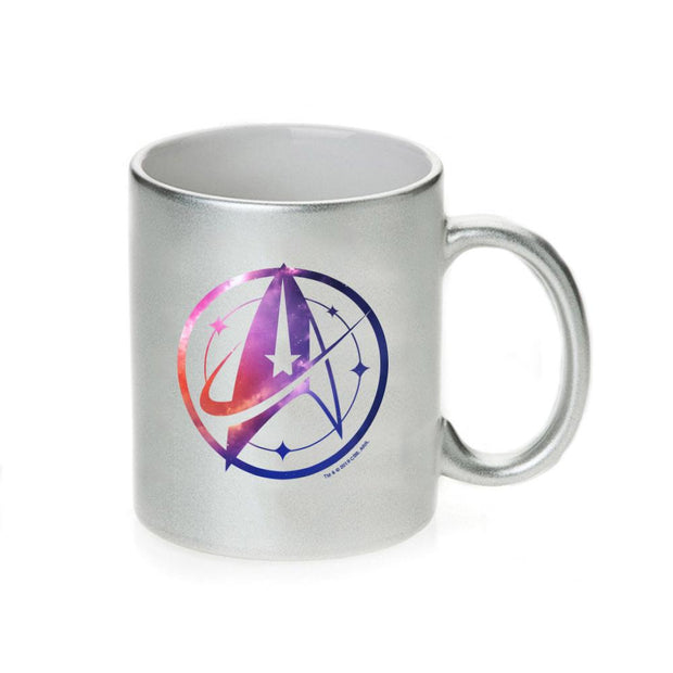 Star Trek: Discovery Universe Logo Silver Metallic 11 oz Mug | Official CBS Entertainment Store