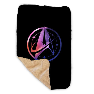 Star Trek: Discovery Universe Logo Sherpa Blanket | Official CBS Entertainment Store