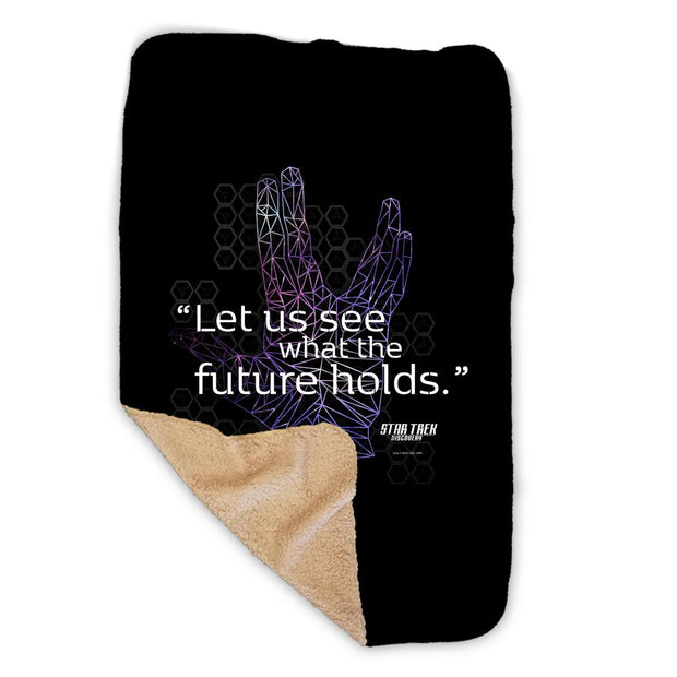 Star Trek: Discovery Let Us See What The Future Holds Sherpa Blanket | Official CBS Entertainment Store