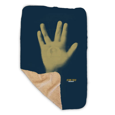 Star Trek: Discovery Vulcan Salute Sherpa Blanket | Official CBS Entertainment Store