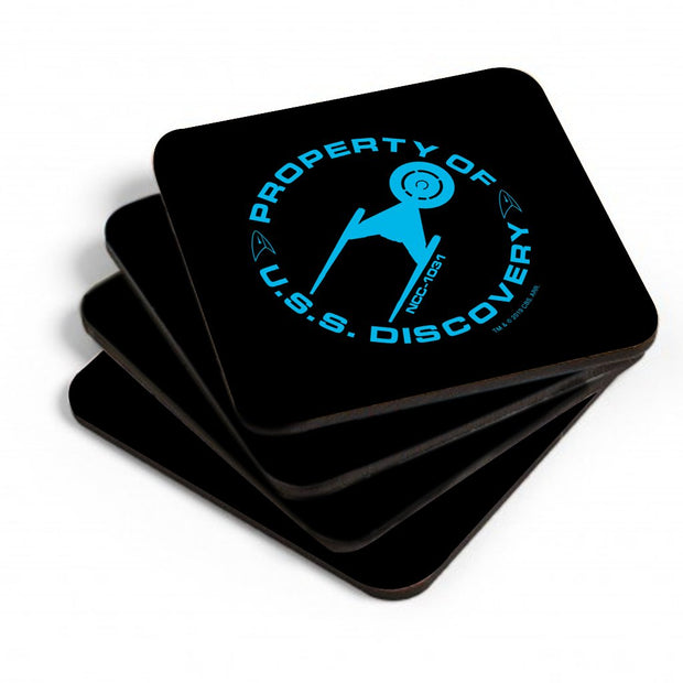 Star Trek: Discovery Property of U.S.S. Discovery Ship Coasters | Official CBS Entertainment Store
