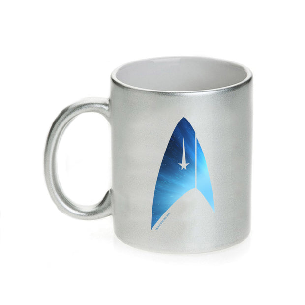 Star Trek: Discovery Universe Delta Silver Metallic 11 oz Mug | Official CBS Entertainment Store