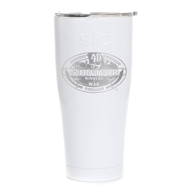 Survivor Season 40 Winners at War Logo Laser Engraved SIC Tumbler | Official CBS Entertainment Store