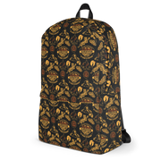 Survivor 20 Years 40 Seasons All Over Black and Yellow Tribal Pattern Premium Backpack | Official CBS Entertainment Store