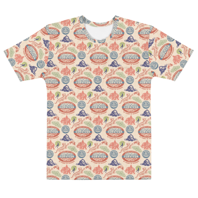 Survivor 20 Years 40 Seasons All Over Color Logo Pattern Adult All-Over Print T-Shirt