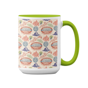 Survivor 20 Years 40 Seasons All Over Color Logo Pattern Two-Tone Mug | Official CBS Entertainment Store