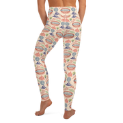 Survivor 20 Years 40 Seasons All Over Color Logo Pattern Women's All-Over Print Yoga Leggings