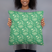 Survivor 20 Years 40 Seasons All Over Green Tribal Pattern Throw Pillow | Official CBS Entertainment Store