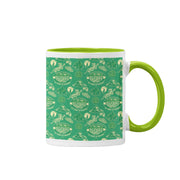 Survivor 20 Years 40 Seasons All Over Green Tribal Pattern Two-Tone Mug