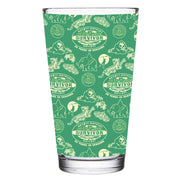 Survivor 20 Years 40 Seasons All Over Green Tribal Pattern 17 oz Pint Glass