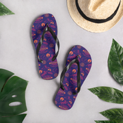 Survivor 20 Years 40 Seasons All Over Purple Logo Pattern Adult Flip Flops