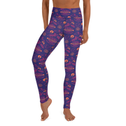Survivor 20 Years 40 Seasons All Over Purple Pattern Women's All-Over Print Yoga Leggings
