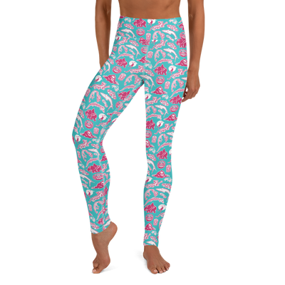 Survivor 20 Years 40 Seasons All Over Tribal Pattern Women's All-Over Print Yoga Leggings | Official CBS Entertainment Store