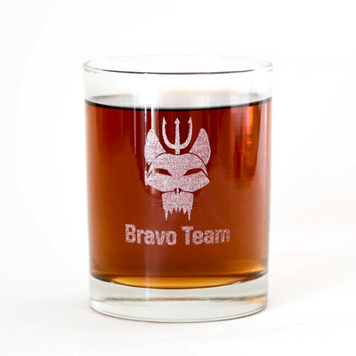 SEAL Team Bravo Team Laser Engraved Rocks Glass | Official CBS Entertainment Store