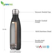 Star Trek: Picard Property Of Personalized 17 oz Stainless Steel Slim Water Bottle