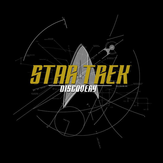 Star Trek: Discovery Logo Sketch Women's V-Neck T-Shirt | Official CBS Entertainment Store