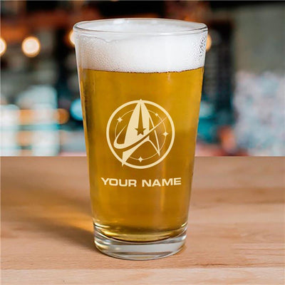 Star Trek: Discovery Starfleet Command Personalized Pint Glass | Official CBS Entertainment Store