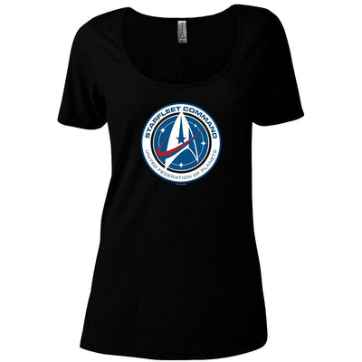 Star Trek: Discovery Starfleet Command Women's Relaxed Scoop Neck T-Shirt | Official CBS Entertainment Store