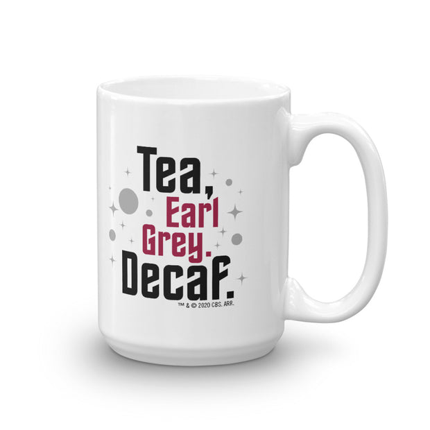Star Trek: Picard Earl Grey Decaf White Mug | Official CBS Entertainment Store
