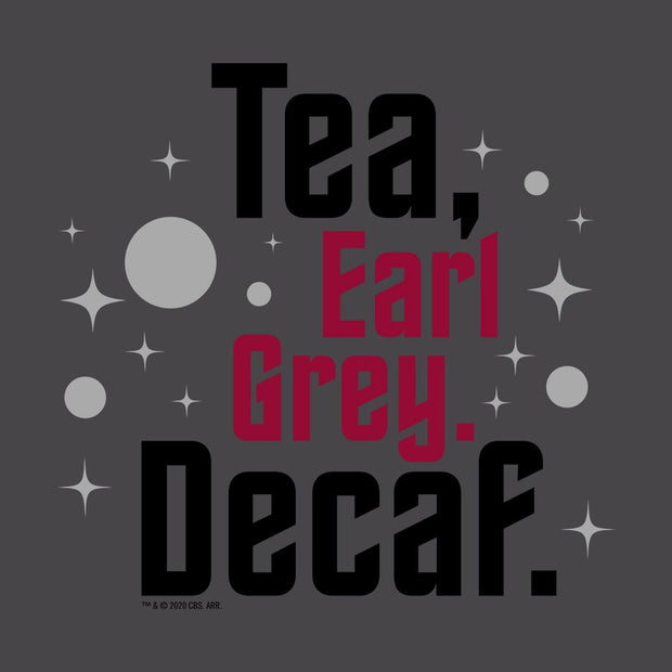 Star Trek: Picard Earl Grey Decaf Adult Short Sleeve T-Shirt