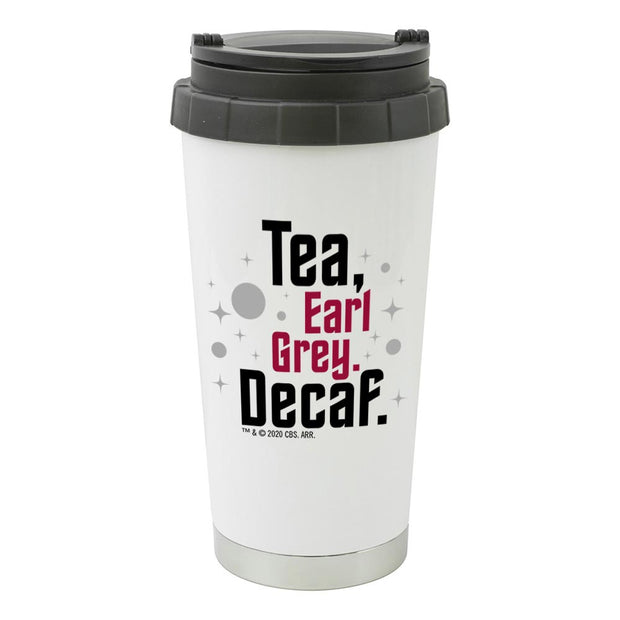 Star Trek: Picard Earl Grey Decaf 16 oz Stainless Steel Thermal Travel Mug