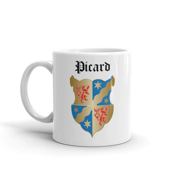 Star Trek: Picard Coat of Arms 11 oz White Mug | Official CBS Entertainment Store