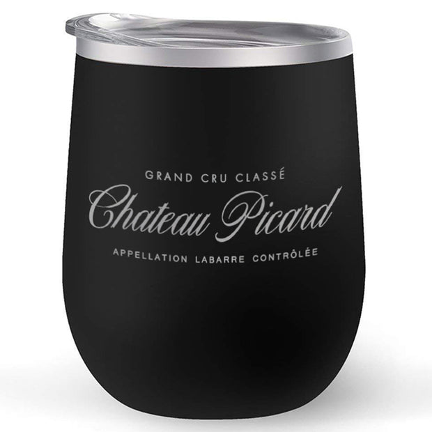 Star Trek: Picard Chateau Picard Logo 12 oz Stainless Steel Wine Tumbler with Straw | Official CBS Entertainment Store