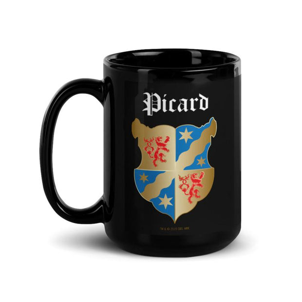 Star Trek: Picard Coat of Arms Picard Family Forever 15 oz Black Mug | Official CBS Entertainment Store
