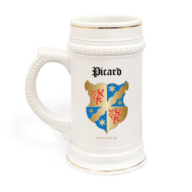 Star Trek: Picard Coat of Arms Picard Family Forever Beer Stein